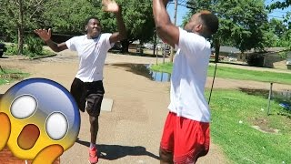 WHEN HOOPING IN THE HOOD! ACTUALLY GOES WRONG (SIDE OF THE ROAD) 1 VS 1 Basketball