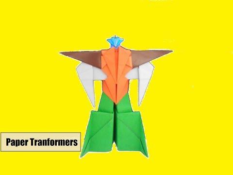 Cara Membuat Mainan Anak Dari Kertas Origami Robot Transformers Yang Keren | Origami Paper