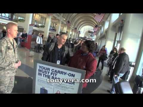American Airlines worker sings to us troops at LAX