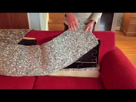 Remove those Attached Back Cushions Quickly  - Slipcover Project Part 1