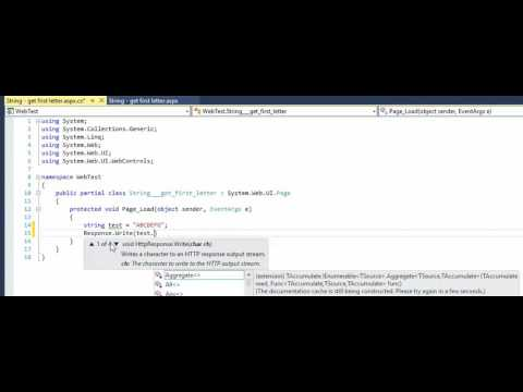 C# -  ASP NET  - String -  get first character letter of a string