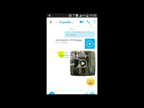 How to make a video call in Skype Android App