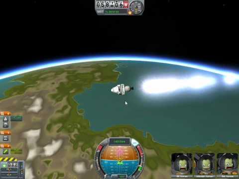 Kerbal Space Program: Putting a Satellite into Orbit HD