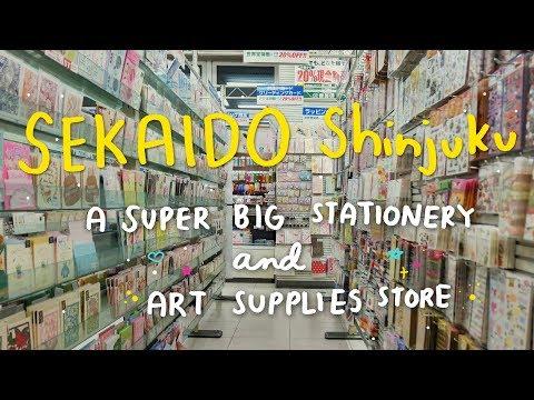 Tokyo Stationery Store Tour : SEKAIDO Shinjuku / 世界堂 新宿