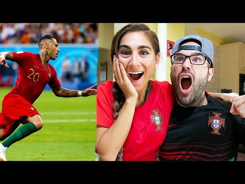 REACTING TO PORTUGAL VS IRAN WORLD CUP 2018!