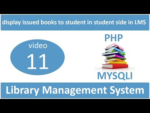 how to display issued books to student in student side in LMS