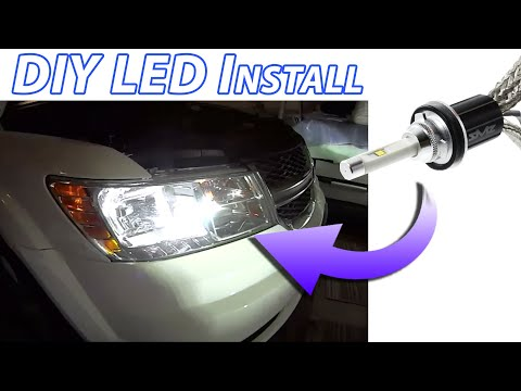 Upgrade ANY Car DIY: LED Headlight Bulb Install. Bright, White, Safe, EASY How-to 9006/HB4 Reflector