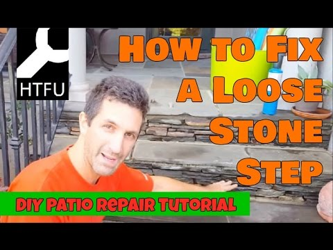 Loose Patio Stones: How to Repair Loose Stone Steps in Your Yard Securely and Cheaply (DIY)