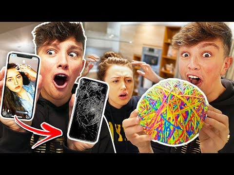 I turned my Ex Girlfriend's iPhone X into a Rubber Band Ball & it CRACKED!! {10,000 Rubber Bands}