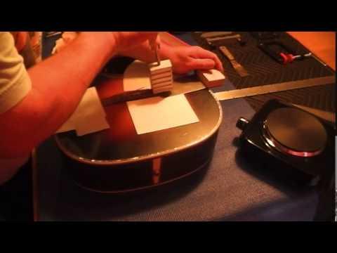Guitar repair Removing Bridge and repairing belly buldge