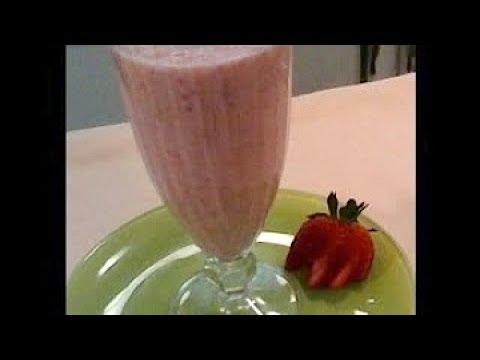 Creamy Straberry Banana Smoothie - Probiotic
