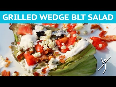 Grilled Iceberg Wedge Salad with Tomatoes, Bacon and Bleu Cheese