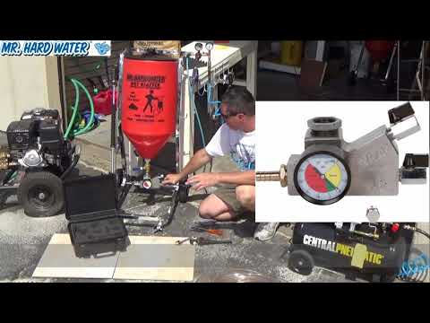 How to Install a Venturi Assist Carburetor onto a Wet Blaster Hopper for Pool Tile Cleaning