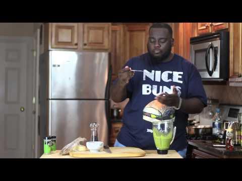 How To Make Honey Glazed Salmon & Collard Green Pesto