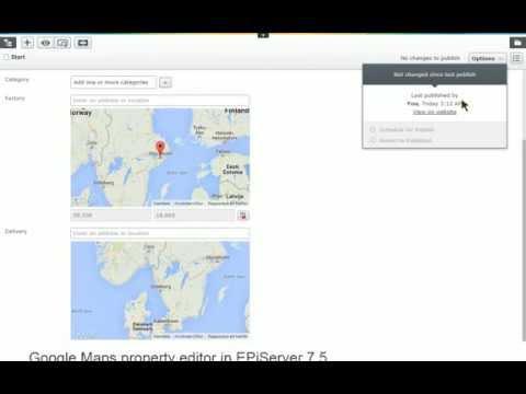 Google Maps editor in EPiServer 8