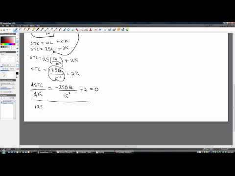 Deriving Long-Run Total Cost and Average Cost Equations