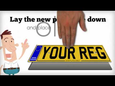 How to fit number plates with screws (3) explainer video