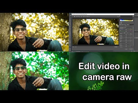 How to edit video in camera raw filter hindi video