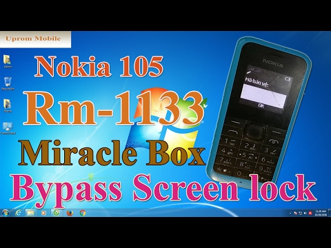 Format full factory Bypass screen lock code Nokia 105 RM 1133 by Miracle Box ok