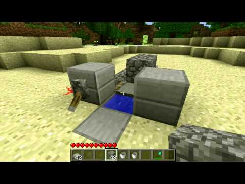 [How To] Make a Minecraft Toilet That Flushes! (Working)