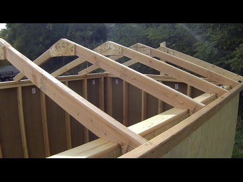 How To Build A Shed: Building & Installing Roof Rafters
