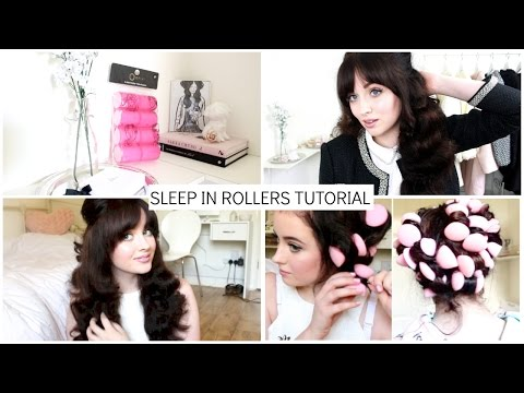 Overnight Heatless Curls Using Primark Sponge Rollers   Becca Rose
