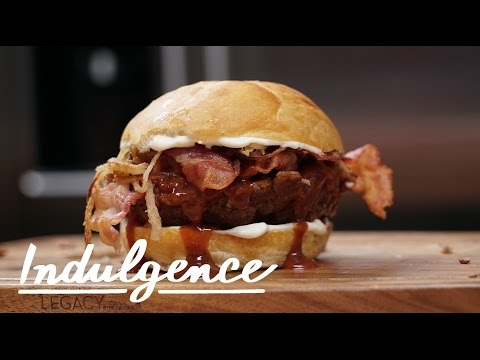 Make this Meatloaf Burger with Homemade BBQ Sauce and Crispy-Fried Shallots