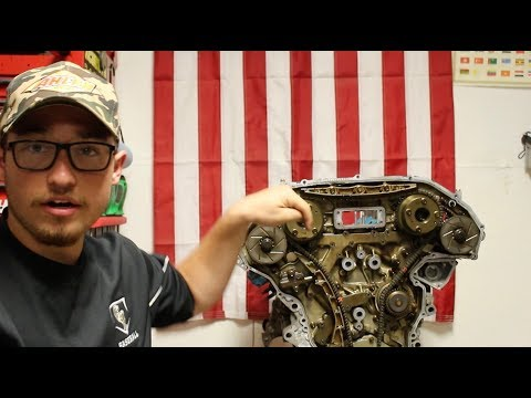 Nissan 350z Engine Build Part 6, Upper Oil Pan Assembly Removal