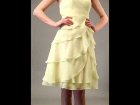 Simple Style Sweetheart Layered A-line Knee Length Chiffon Dress(Style ZP_101866)