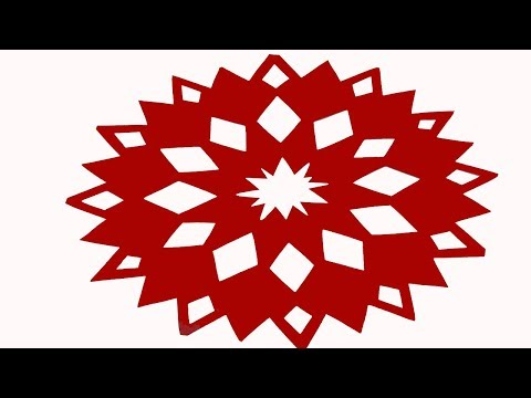 Paper Cutting design -How to make Easy paper cutting  Flowers? DIY Kirigami Tutorial step by step.