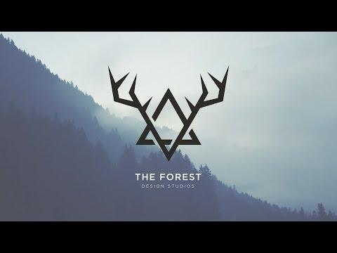 Vintage Forest 2D logo | Illustrator speed art