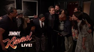 Guest Host Neil Patrick Harris Inspires Kimmel Staff Before Show