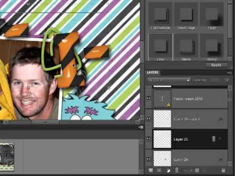 Digital Scrapbook Tutorial | Linking Layers in Photoshop Elements