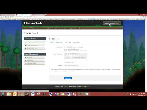 Terraria - TShock Manage your Server Remotely (from Anywhere)
