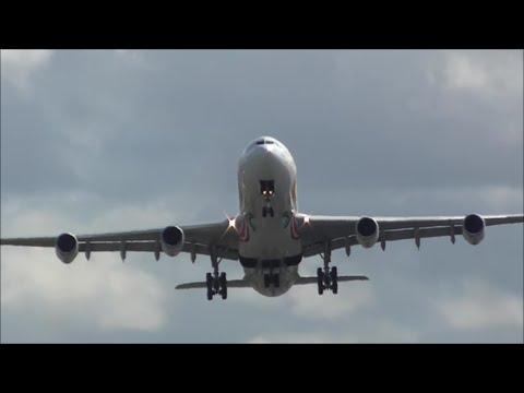 *RARE* South African Airways A340 at Birmingham Airport, BHX! Diversion #StormKatie