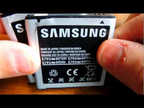 FAKE / COUNTERFEIT SAMSUNG BATTERY FROM EBAY