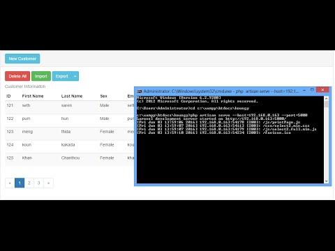 how to run laravel 5.1 on lan network