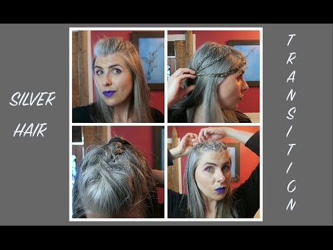 3 Center Braids for Silver Hair Transition