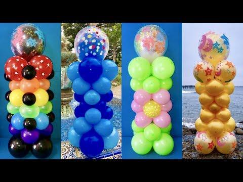 Dollar Store Balloon Columns! Triple-Stuffed