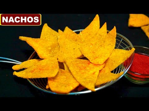 Homemade Crispy Nachos Recipe in Hindi (नाचो चिप्स्) | Corn Tortilla Chips | CookWithNisha