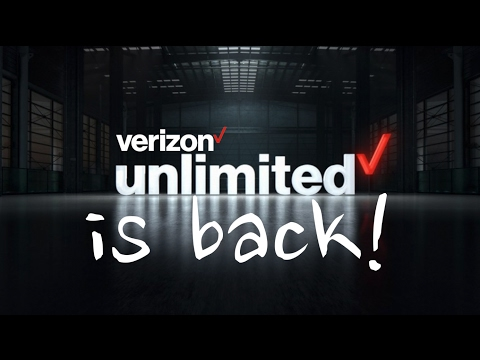 Verizon Unlimited Data is Back!