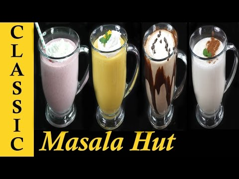 Milkshake Recipe | 5 Different Milkshakes | Strawberry, Chocolate, Mango, Apple & Banana Milkshakes