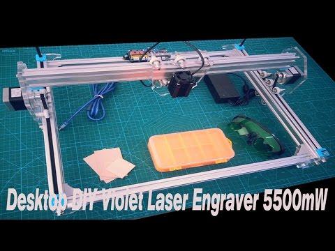Desktop DIY Violet Laser Engraver 5500mW A3 30 x 40cm Picture CNC Printer