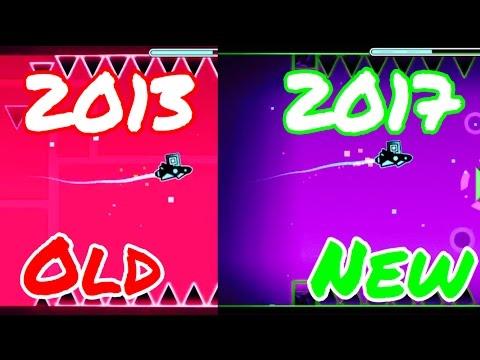 Stereo Madness 2013 vs 2017 comparison  |Geometry dash 2.1|
