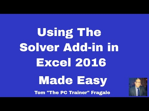 How to use the Excel Solver - using the Solver add-in in Excel 2016, 2013, 2010, and 2007 tutorial