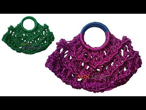 কর্ট এর ব্যাগ/How to make Macrame hand bag or clutch for beginners/macrame bag