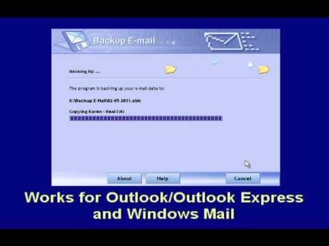 Backup E-Mail The Easy Way in Outlook - Outlook Express - Windows Mail