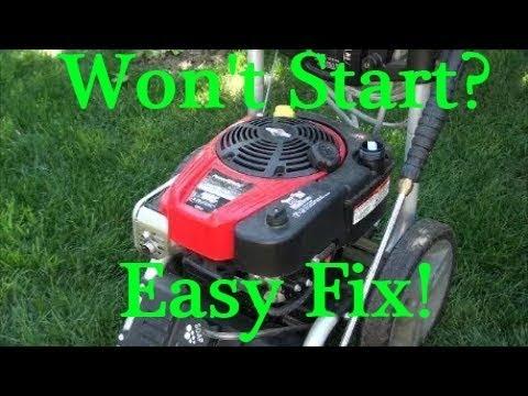 Newer POWERSTROKE Pressure Washer won't START after STORAGE. BRIGGS and STRATTON Ready Start 190cc