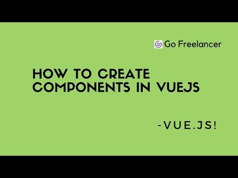 How to create components in VueJs