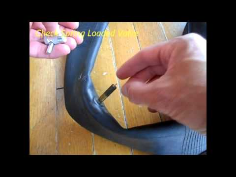 Tube Valve Core Replacement For Slow Leak In Motorcycle Wheel